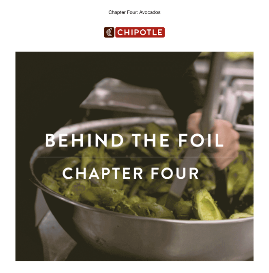 An example of sharing staff stories or secret insights into your restaurant kitchen.